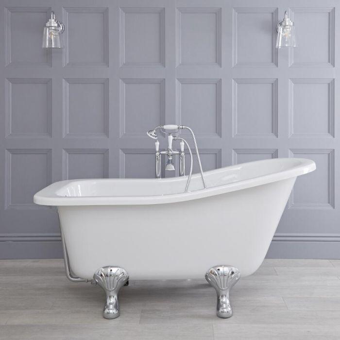 freistehende badewanne kensington mit f en 1500mm. Black Bedroom Furniture Sets. Home Design Ideas