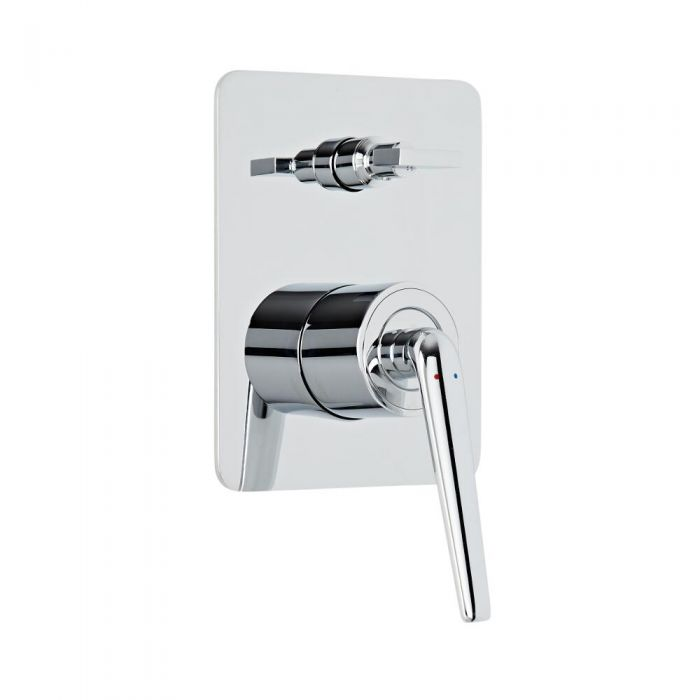 Ora - moderne Einhebel-Duscharmatur mit Umschalter - 1 Funktionen - Chrom