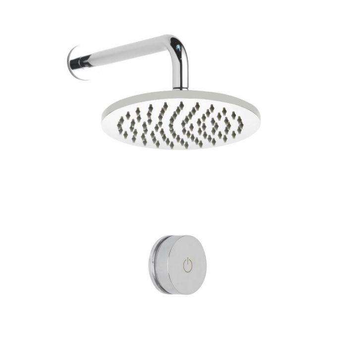 Digitale Dusche für eine Funktion, inkl. rundem 200mm Duschkopf zur Wandmontage - Narus