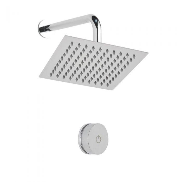 Digitale Dusche für eine Funktion, inkl. quadratischem Duschkopf zur Wandmontage - Narus