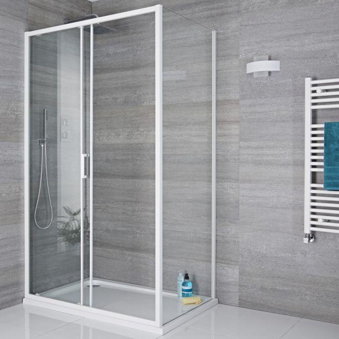 Duschabtrennung Seitenpaneel 900mm Weiß - Lux