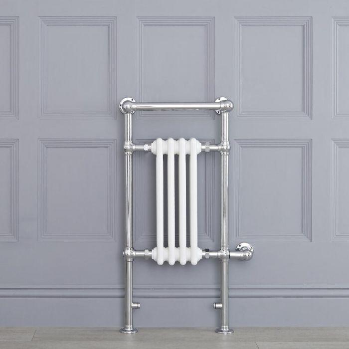 Avon elektrisch - Weißer traditioneller Handtuchheizkörper 930mm x 452mm x 230mm mit 400W Heizstab