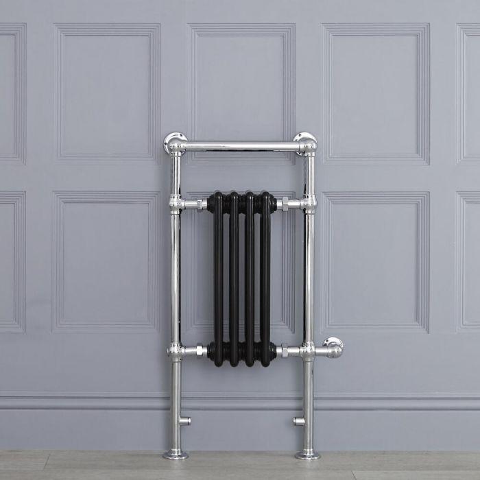 Avon elektrisch - Schwarzer traditioneller Handtuchheizkörper 930mm x 452mm x 155mm mit 400W Heizstab