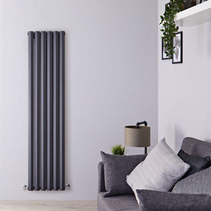 Design Heizkörper Vertikal Doppellagig Anthrazit 1780mm x 420mm 1618W - Vital