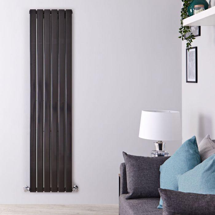Design Heizkörper Vertikal Doppellagig Schwarz 1780mm x 420mm 1484W - Delta