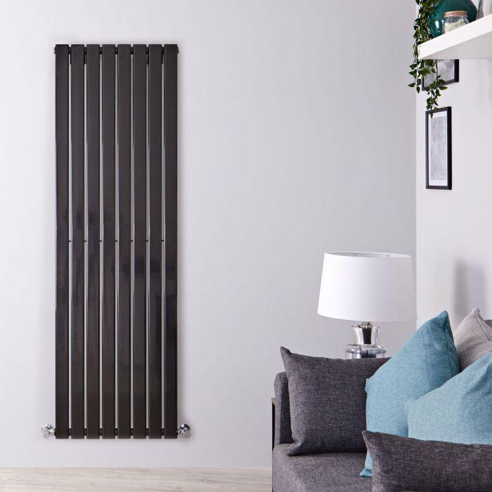 Design Heizkörper Vertikal Einlagig Schwarz 1780mm x 560mm 1316W - Delta