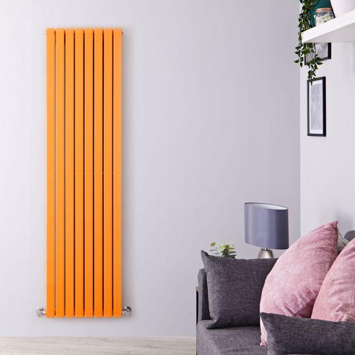 Design Heizkörper Vertikal Orange 1931 Watt 1780mm x 472mm Doppellagig - Sloane