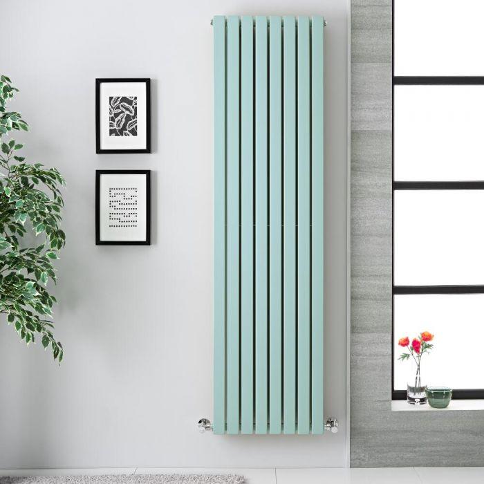 Design Heizkörper Vertikal Pastell Mintgrün 1931Watt 1780mm x 472mm Doppellagig - Sloane