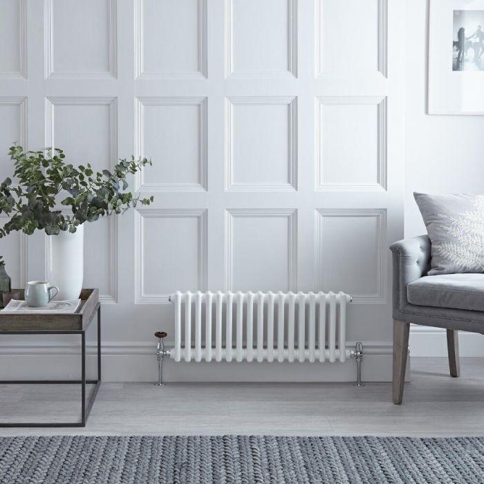 Gliederheizkörper Horizontal 3 Säulen Nostalgie Weiß 300mm x 600mm 525W - Regent