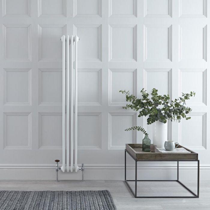 Gliederheizkörper Vertikal 3 Säulen Nostalgie Weiß 1500mm x 203mm 694W - Regent