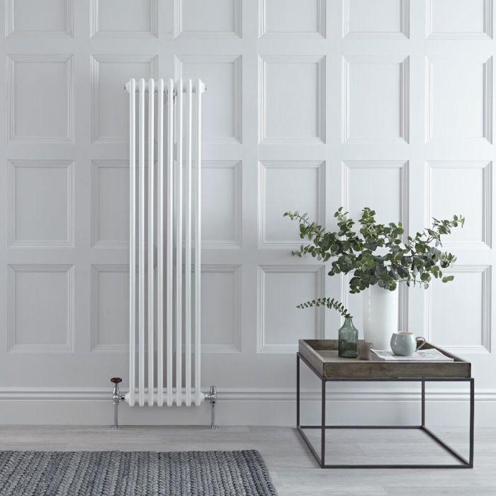 Gliederheizkörper Vertikal 2 Säulen Nostalgie Weiß 1500mm x 383mm 1096W - Regent