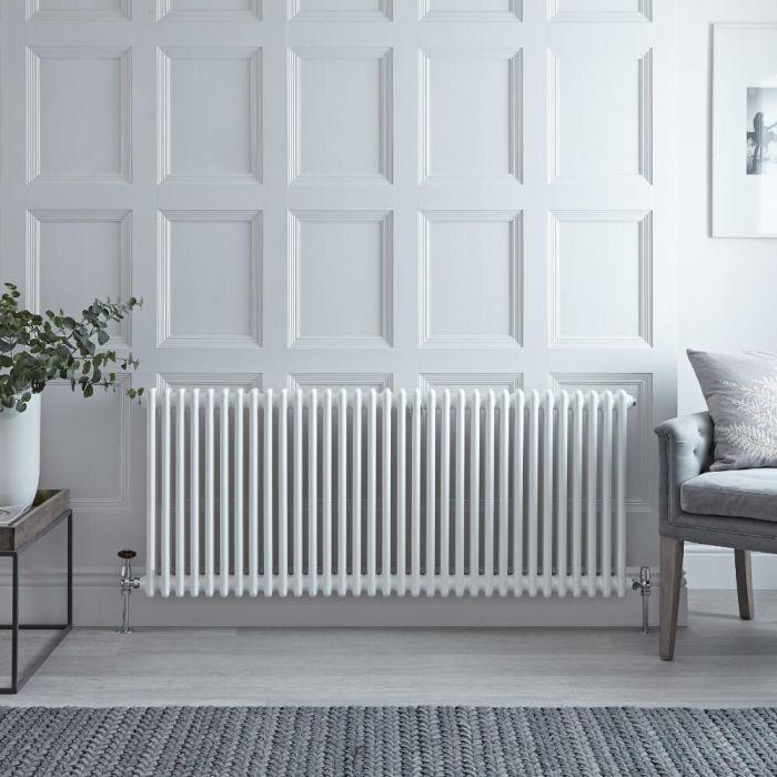 Gliederheizkörper Horizontal 2 Säulen Nostalgie Weiß 600mm x 1508mm 1873W - Regent