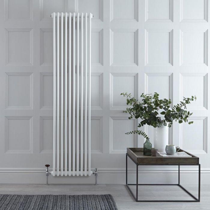 Gliederheizkörper Vertikal 2 Säulen Nostalgie Weiß 1800mm x 470mm 1556W - Regent