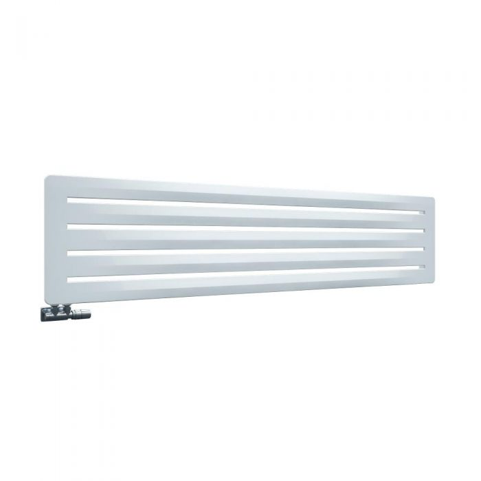 Design Heizkörper Horizontal Einlagig Weiß 410mm x 1800mm - Leba