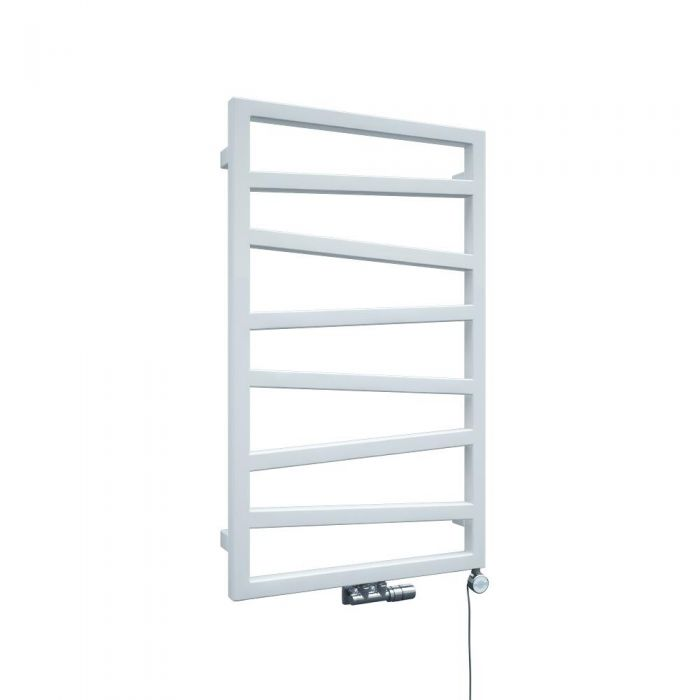 Handtuchheizkörper Vertikal Mittelanschluss Weiß 835mm x 500mm - Torun