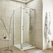 Duschabtrennung Quadratisch 760mm inkl. Duschtasse und Tür