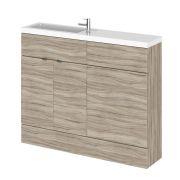 1100mm Waschtisch & WC Kombination - Treibholz