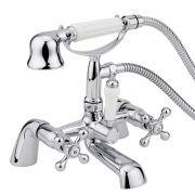 Badewannenarmatur mit kleiner Glocken-Handbrause - Derwent