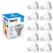 Biard 10x 4W GU10 LED Spot nicht dimmbar, 3 Farbtemperaturen zur Auswahl