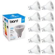 Biard 10x 4W GU10 LED Spot dimmbar, 3 Farbtemperaturen zur Auswahl