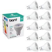 Biard 10x 6W GU10 LED Spot nicht dimmbar, 3 Farbtemperaturen zur Auswahl