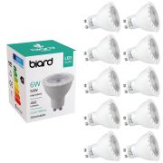 Biard 10x 6W GU10 LED Spot dimmbar, 3 Farbtemperaturen zur Auswahl
