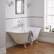 Vorwand Badewanne zum Anlehnen an die Wand, Auswahl an Füßen
