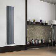 Design Heizkörper Vertikal Doppellagig Anthrazit 1600mm x 354mm 1193W - Sloane