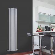 Design Heizkörper Vertikal Einlagig Silber 1600mm x 354mm 861W - Sloane