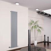 Design Heizkörper Vertikal Einlagig Silber 1600mm x 354mm 1177W - Savy