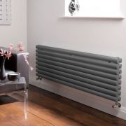 Design Heizkörper Horizontal Doppellagig Anthrazit 472mm x 1600mm 1611W - Revive