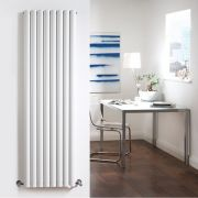 Design Heizkörper Vertikal Doppellagig Weiß 1780mm x 472mm 1868W - Revive