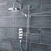Duschsystem Sinclaire inkl Kopfbrause, Handbrause & Thermostat Duscharmatur