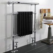 Design Heizkörper Vertikal Einlagig Chrom 960mm x 675mm 680W - Thera