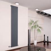 Design Heizkörper Vertikal Einlagig Anthrazit 1780mm x 354mm 1043W - Savy