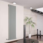 Design Heizkörper Vertikal Einlagig Silber 1780mm x 472mm 1391W - Savy