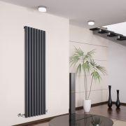 Design Heizkörper Vertikal Einlagig Anthrazit 1600mm x 472mm 1278W - Savy