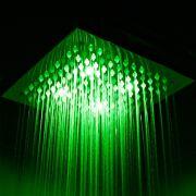 Duschkopf Quadratisch mit LED-Licht 20 cm