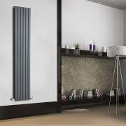 Design Heizkörper Vertikal Doppellagig Anthrazit 1780mm x 354mm 1448W - Sloane