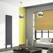 Design Heizkörper Vertikal Doppellagig mit Füßen Anthrazit 2000mm x 472mm 1868W - Revive Plus