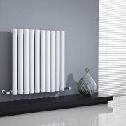 Design Heizkörper Horizontal Einlagig Weiß 635mm x 595mm 597W - Revive