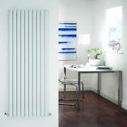 Design Heizkörper Vertikal Einlagig Weiß 1600mm x 590mm 1402W - Revive