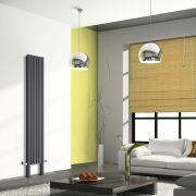 Design Heizkörper Vertikal Doppellagig mit Füßen Anthrazit 2000mm x 354mm 1401W - Revive Plus