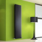 Design Heizkörper Vertikal Doppellagig Schwarz 1600mm x 420mm 1475W - Vital