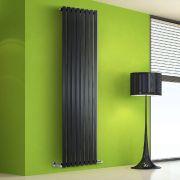 Design Heizkörper Vertikal Einlagig Schwarz 1780mm x 560mm 1401W - Vital