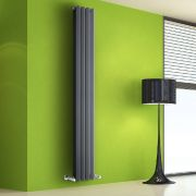 Design Heizkörper Vertikal Doppellagig Anthrazit 1780mm x 280mm 1079W - Vital