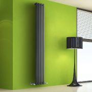 Design Heizkörper Vertikal Einlagig Anthrazit 1780mm x 280mm 700W - Vital