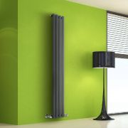 Design Heizkörper Vertikal Einlagig Anthrazit 1600mm x 280mm 630W - Vital