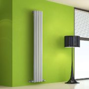 Design Heizkörper Vertikal Einlagig Weiß 1600mm x 280mm 630W - Vital