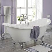 Freistehende Badewanne Verona mit auswählbaren Füßen